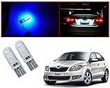 Auto Pearl - LED Parking Bulb Pilot Light / Daytime Running Lens Led Licence Plate Light T10-5050 (Blue) For - Skoda Rapid