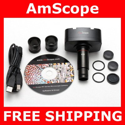 10MP Microscope HD Video Photo Color Digital Camera + Calibration Kit
