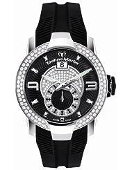 TechnoMarine Men's 608003 UF6 Diamond Bezel 3-Hand Black Rubber Watch
