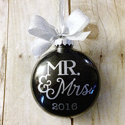 Our First Christmas As Mr And Mrs Ornament, Newlywed Ornament 2016, Wedding Ornament