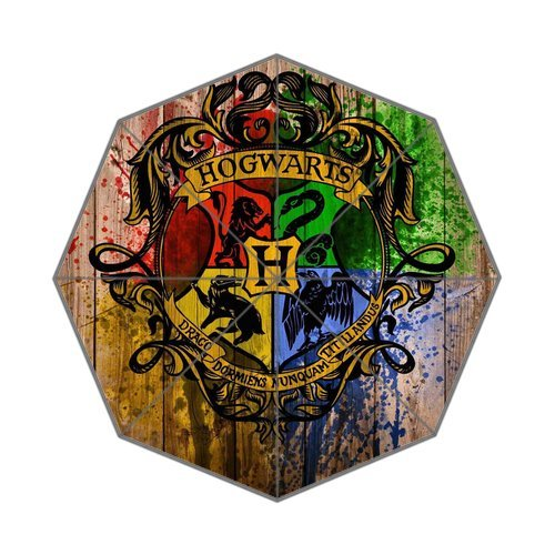 Harry Potter Hogwarts Badge 43.5 Inch Wide Anti Rain Durable Foldable Umbrella front-579795