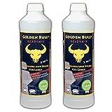 GOLDEN BULL® Readymix Doppelpack, Ökologischer Lederreiniger, Ökologische Lederpflege Leder Pflege Bio (2-in-1) 2 x 500ml, öko-zertifiziert