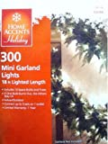 Home Accents 300 Mini Garland Lights with Green Wire Christmas Holiday Light