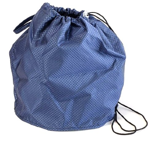 Sapphire Blue Jewel Large GoKnit Pouch Project Bag w/ Loop & Drawstring by KnowKnits