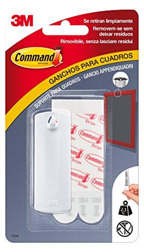 Prodotto Command 17376 Gancio Appendiquadri Dentato in Plastica, Bianco