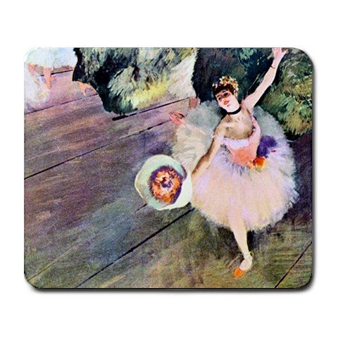 Dancer with a Bouquet of Flowers By Edgar Degas Mouse Pad