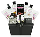 Premium Deluxe Bath & Body Gift Basket. Ultimate Large Spa Basket for Birthday Gifts Holiday Gift etc. #1 Spa Gift Basket for Women, & Teens! Special Collection - Floral Caress Basket