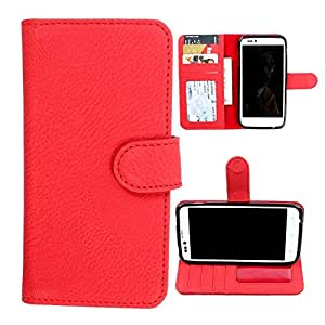 For LG K7 - DooDa Quality PU Leather Flip Wallet Case Cover With Magnetic Closure, Card & Cash Pockets