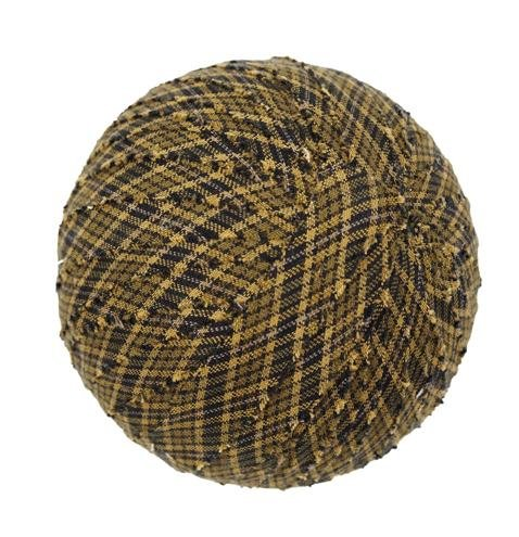 "Tea Cabin Decorative Fabric Ball #3, 4"" Diameter, Sold As Set Of 3"