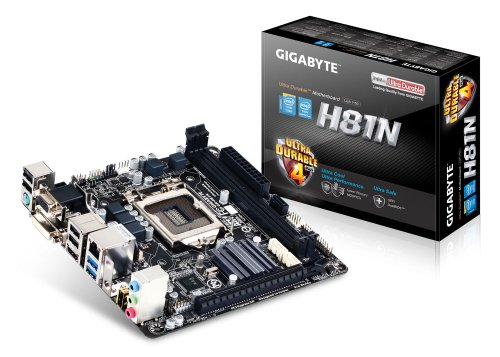 Gigabyte Intel H81 Mini ITX DDR3 1600 LGA 1150 Motherboard GA-H81N