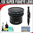 .21x HD Professional Super Wide Angle Panoramic Macro Fisheye Lens + Lenspen + 6 Pc Cleaning Kit + DB ROTH Micro Fiber ClothFor The Sony DSC-HX100V Digital Camera