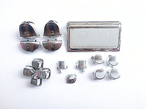 silver-chrome-plating-lr-buttons-kits-touch-pad-for-ps4-controller-dualshock-4