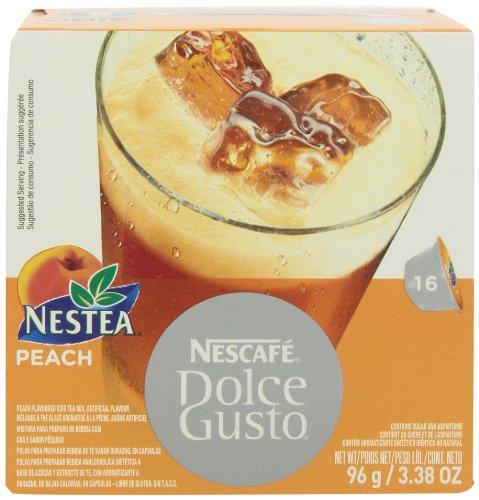 Nescaf Dolce Gusto For Nescaf Dolce Gusto Brewers, Nestea Peach, 16 Count