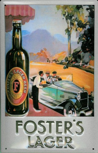 tin-sign-with-retro-fosters-lager-beer-brewery-beer-car-retro-advertising-sign