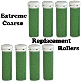 The Pedi Store EXTREME Coarse Micro Mineral Replacement Rollers Compatible with Emjoi Micro-Pedi Callous Remover for Extremely Rough and Tough Calluses (8 pack)