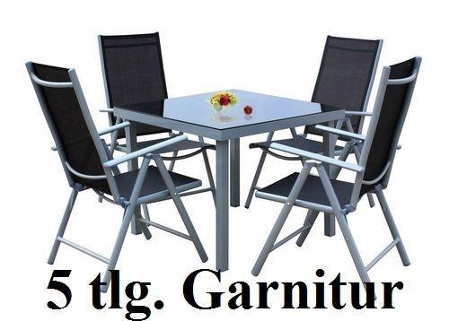 5tlg. Alu Gartenmöbel-Set Gartengarnitur Balkonmöbel-Set GM5 online kaufen