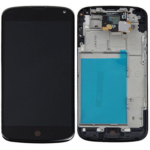 Black Oem For Google Nexus 4 Lg E960 Lcd Display Touch Digitizer Screen Assembly With Frame Combo Replacement Parts, Free Tools, Epacket Shipping