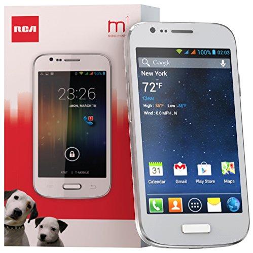 "Rca M1 4.0"" 3G Unlocked Dual Sim, 5Mp, Android 4.2 - White"