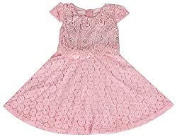 Party Princess Girls' Party Dress (520P-4/5, Pink, 4-5 Years)