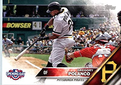 2016 Topps Opening Day #OD-96 Gregory Polanco Pittsburgh Pirates Baseball Card