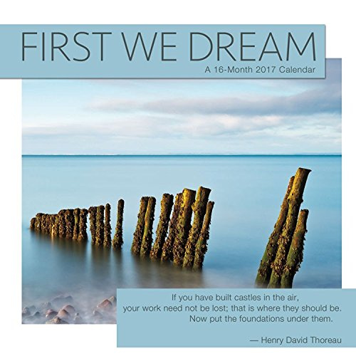 Trends International First We Dream Mini Wall Calendar, 7 X 7-Inch