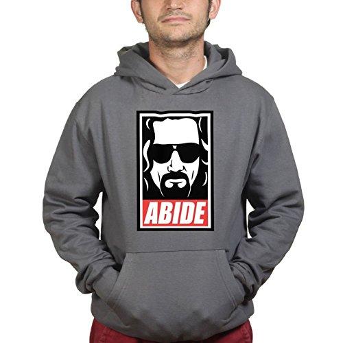 Dude Abide Lebowski Hoodie 3XL Charcoal Grey