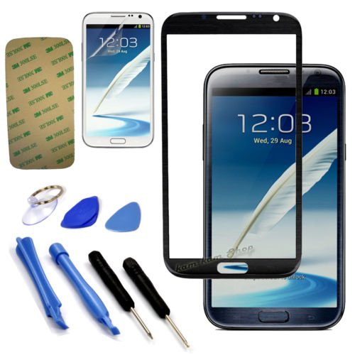 Original Replace Screen Outer Glass Lens For Samsung Galaxy Note 2 N7100 Black