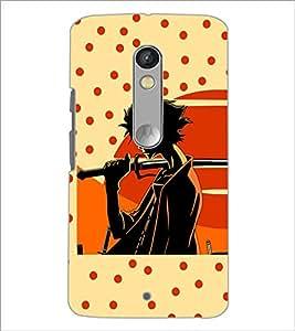 Printdhaba Sword Girl D-5633 Back Case Cover For Motorola Moto X Play