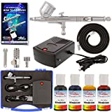 Master Airbrush Cake Decorating System. With Airbrush, Compressor, FREE Storage Case & 4 USCakeSupply Food Colors