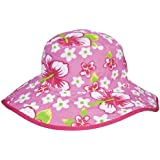 Baby Banz UV Reversible Bucket Hat, Pink Floral, 0-24 Months, 1-Pack