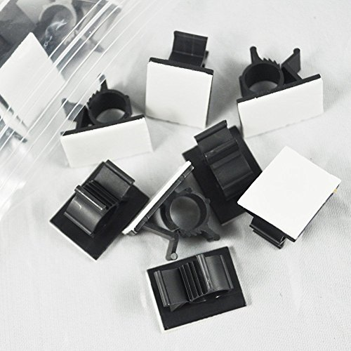 GBSTORE 25 Pcs UVB Plastic Kwik Clips Black Adhesive Backed Nylon ...