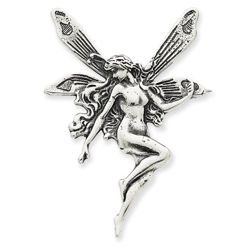 Sterling Silver Antiqued Fairy Pin
