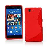 【ノーブランド品】ドコモ Xperia Z3 Compact TPU グリップカバーケース docomo SO-02G 対応 Xperia Z3 Compact, Design S Red (赤)