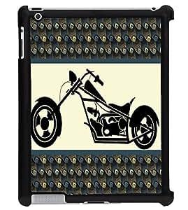 Printvisa 2D Printed Bike Designer back case cover for Apple ipad 4 - D4385
