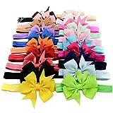 Scheda dettagliata 20 colori 3-10,16 cm (4 )-uk-Fiocchi per capelli, fermacapelli per bambino, con lustrini