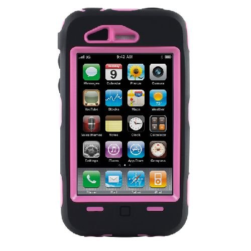 Otterbox Defender Series Case for iPhone 3G/3GS (Black/Pink)[Retail Packaging]