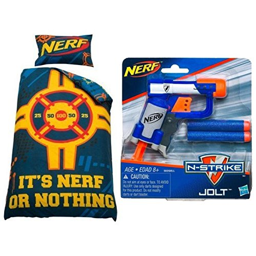 Nerf Target Single Duvet Cover Kids Bedding Set With Foam