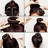 Shells 3 Pcs Classy Black Round Hairdressing Tool Hair Former Donut Doughnut Ring Styling Mesh Chignon Bun Maker