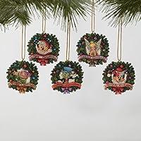 Jim Shore Wreath Disk Ornament Set