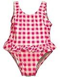 Bebé bollos-Toddler Girls One Piece Gingham Bañador Cuadros, rosa, blanco 30487-4T Color: Rosa Tamaño: 4T (Baby/Babe/Infant-Little Ones)