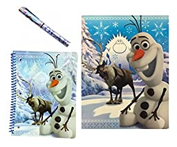 Disney Frozen Olaf and Sven Notebook, Folder and Pen Set (3 Pieces)