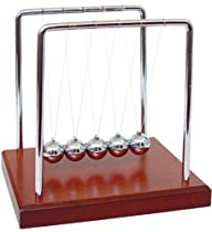 5.5″ Wood Grain Newton's Cradle