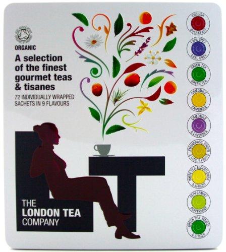 Luxury London Tea Company Tin Presentation Box of 72 of The Finest Gourmet Tea Bags Gift