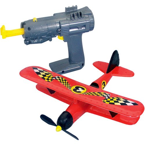Red 8″ x 10″ Race Ace Backyards Airplane w/ launcher Kids Playing Toys