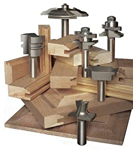Eagle America 199-1861 Cove and Round Raised Panel Door Router Bit Set