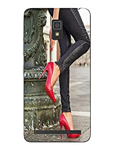 Case Cover Heels Printed Red Soft Back Cover For Lenovo A7700