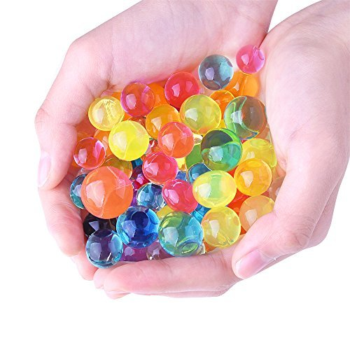 Kuuqa 8.8 Ounces About 20,000 Pcs Water Beads, Water Growing Balls Vase Filler for Wedding and Party Decoration (Rainbow Colors) (Ball Water compare prices)
