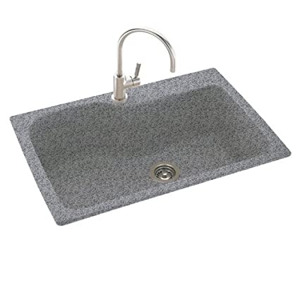 Swanstone KSSB-3322.042 33-Inch by 22-Inch Large Single Bowl Kitchen Sink, Gray Granite
