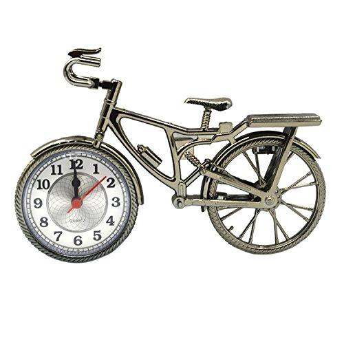 Gosear® Nouveauté Vintage DIY Vélo Alarme Horloge Table Bureau Étudiants Temps Horloge Maison Bureau Décoration Anniversaire Festival Amis Cadeau