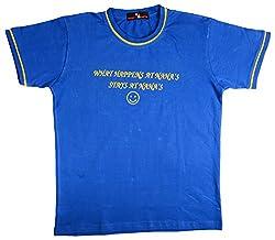 NautieCutie Boys Slim Fit T-Shirt (NCB 4-DARK BLUE_28, Blue, 6 to 8 Years)